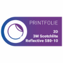 2D 3M Scotchlite Reflective 580-10 | Whi...